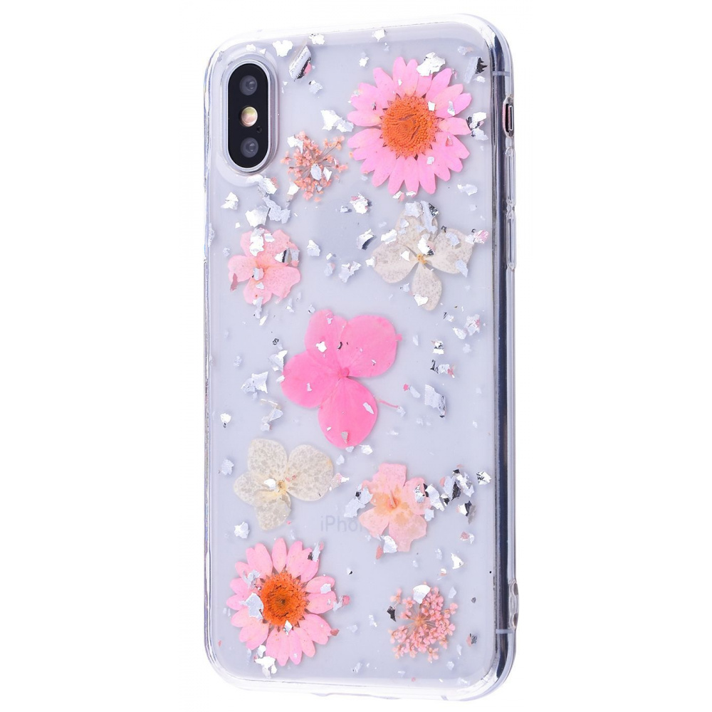 Nature flowers silicone case (TPU) iPhone X/Xs - фото 12