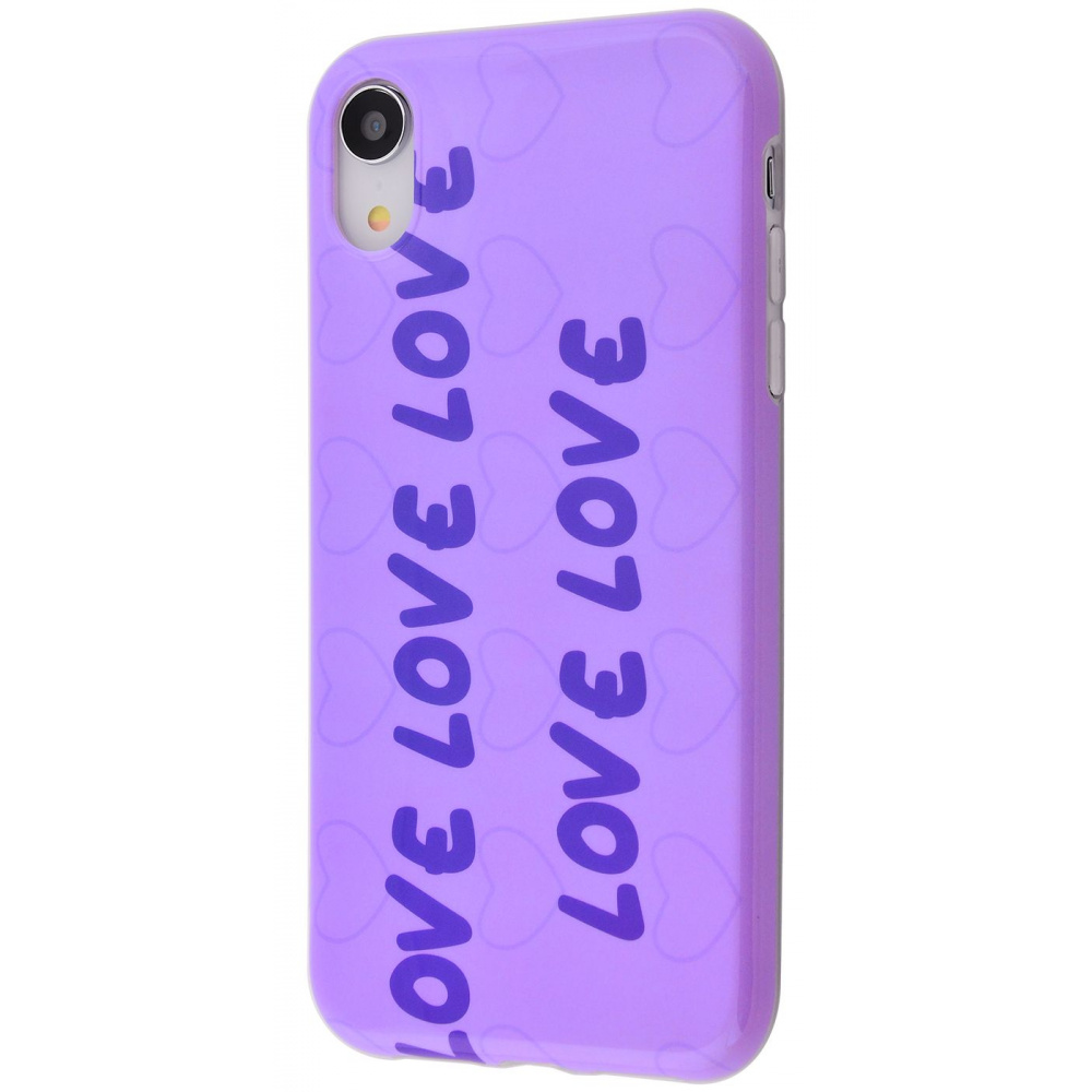 Violet glossy case (TPU) iPhone Xr - фото 2