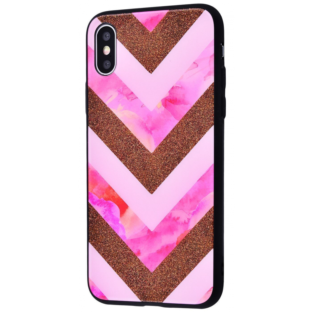 Marble High quality Case (Tempering glass+TPU) iPhone Xs Max - фото 4