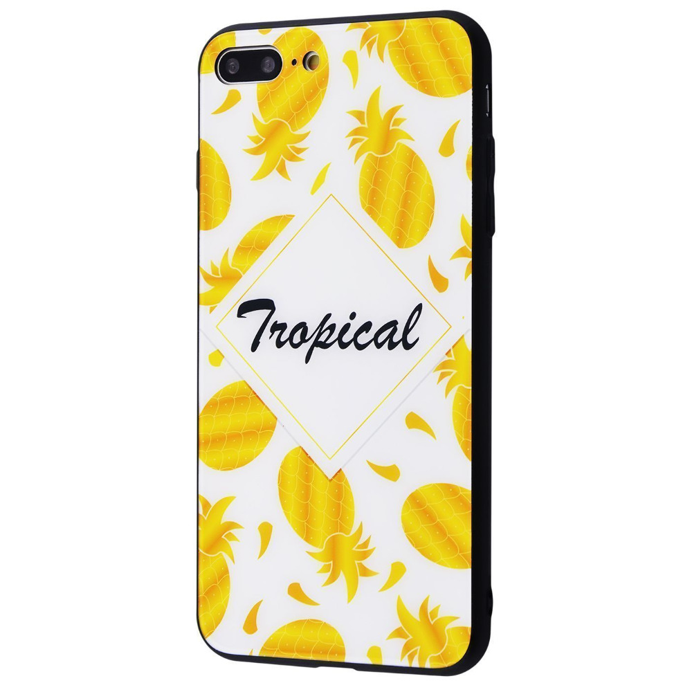 Tropical High quality Case (Tempering glass+TPU) iPhone 7 Plus/8 Plus