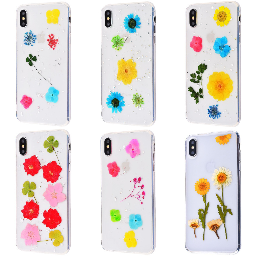 Nature flowers silicone case (TPU) iPhone Xs Max