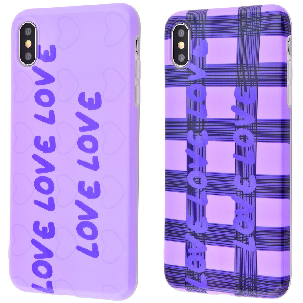 Violet glossy case (TPU) iPhone X/Xs