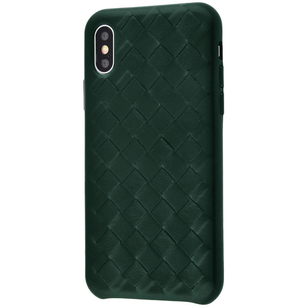 Natural Leather Weaving case iPhone Xs Max - фото 2