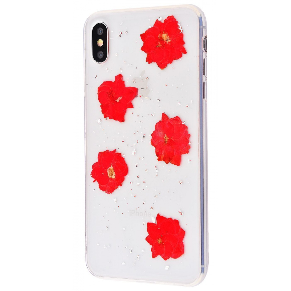 Nature flowers silicone case (TPU) iPhone X/Xs - фото 10