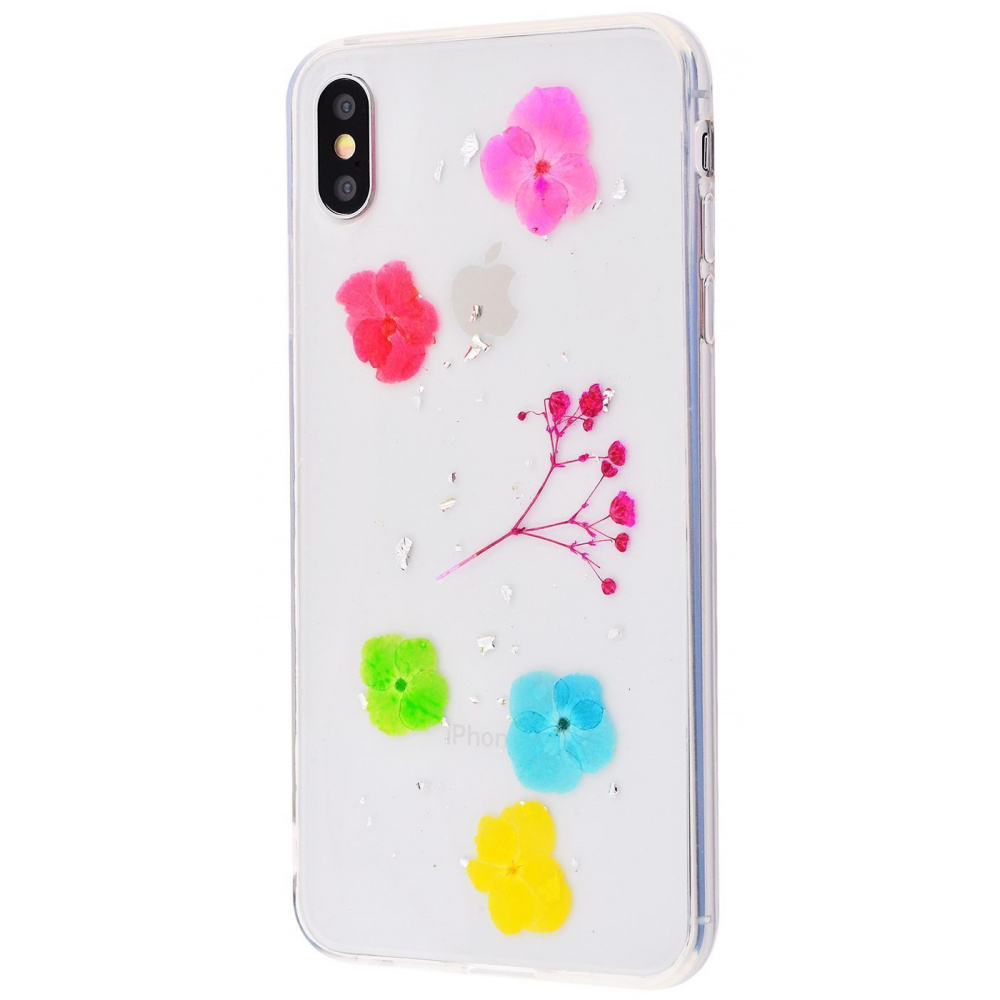Nature flowers silicone case (TPU) iPhone X/Xs - фото 9