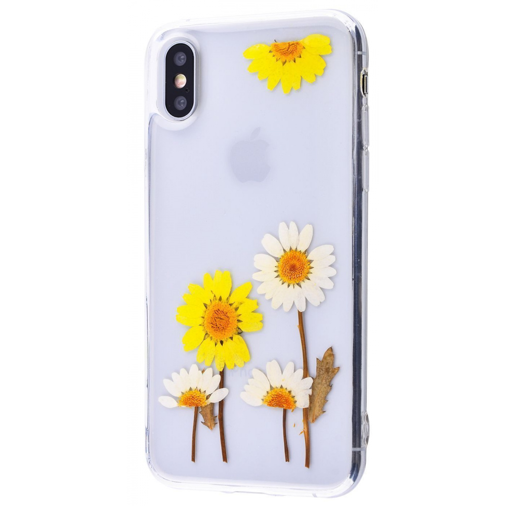 Nature flowers silicone case (TPU) iPhone X/Xs - фото 8