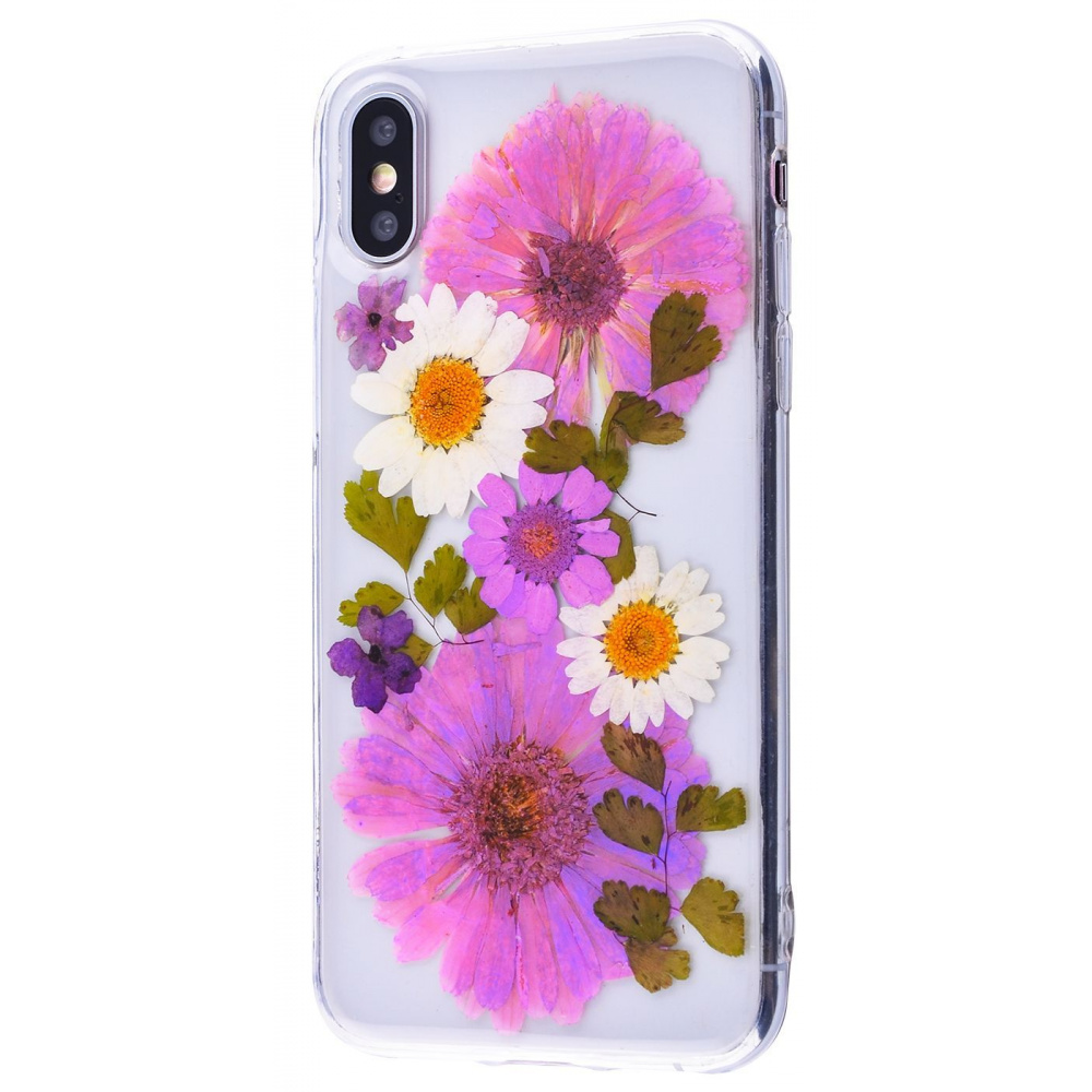 Nature flowers silicone case (TPU) iPhone X/Xs - фото 7