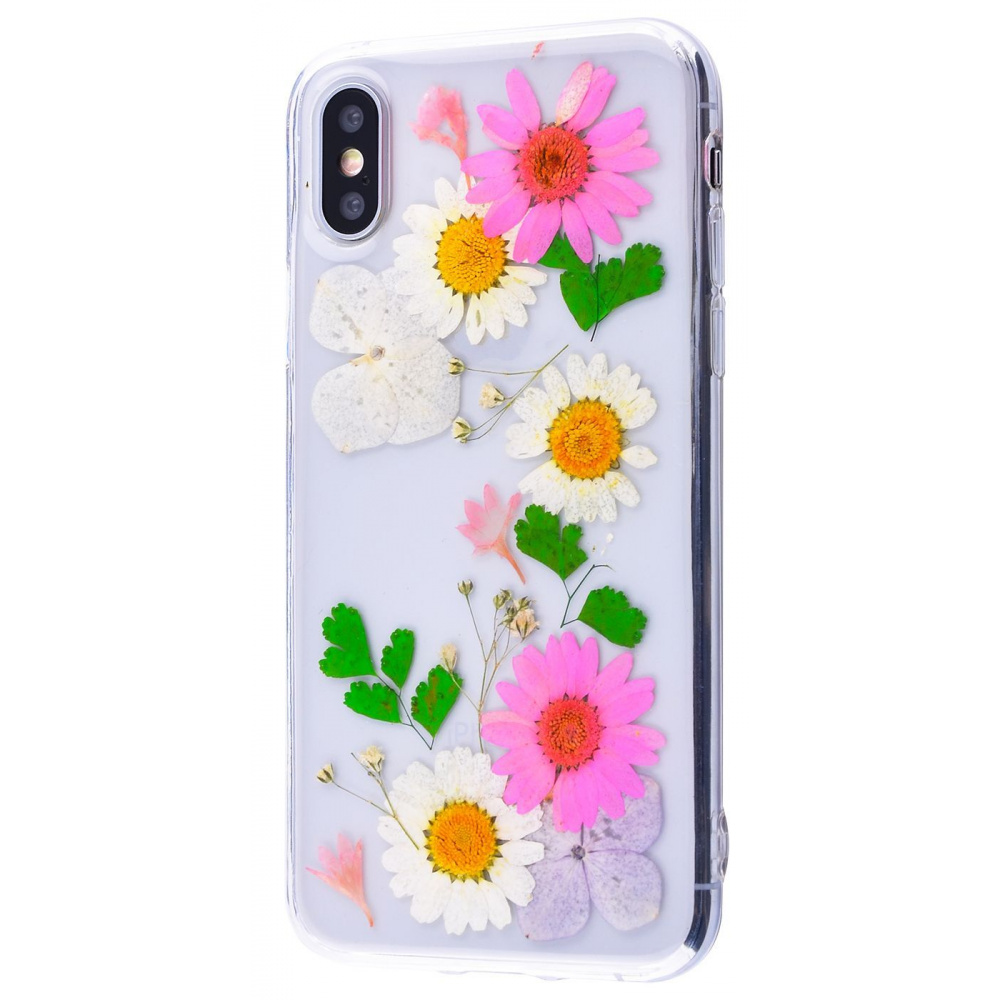 Nature flowers silicone case (TPU) iPhone X/Xs - фото 6