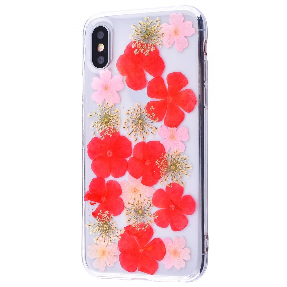 Nature flowers silicone case (TPU) iPhone X/Xs - фото 5