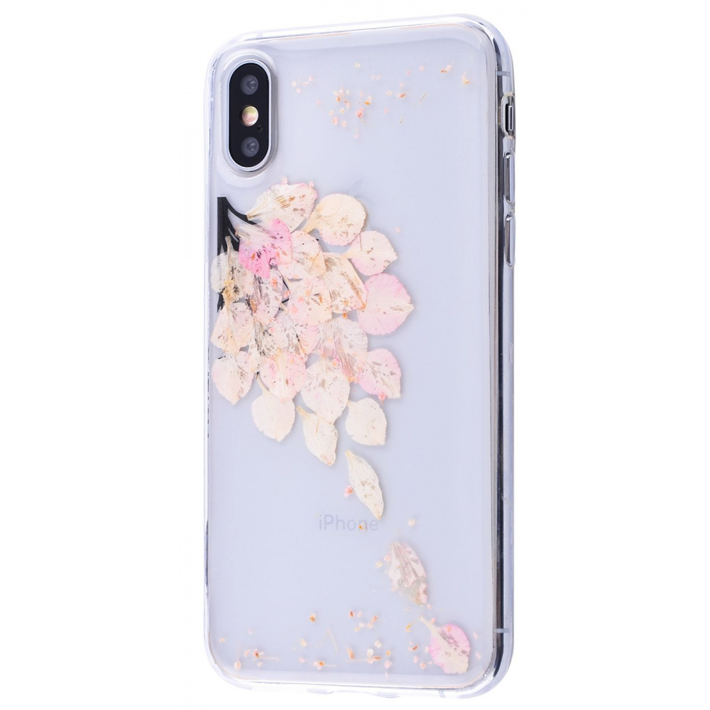 Nature flowers silicone case (TPU) iPhone X/Xs - фото 4