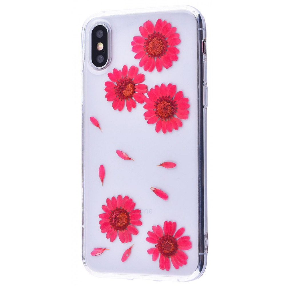 Nature flowers silicone case (TPU) iPhone X/Xs - фото 3