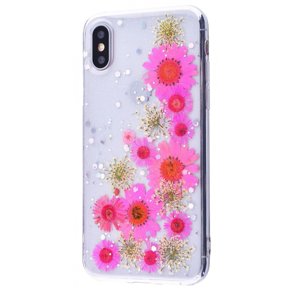 Nature flowers silicone case (TPU) iPhone X/Xs - фото 15