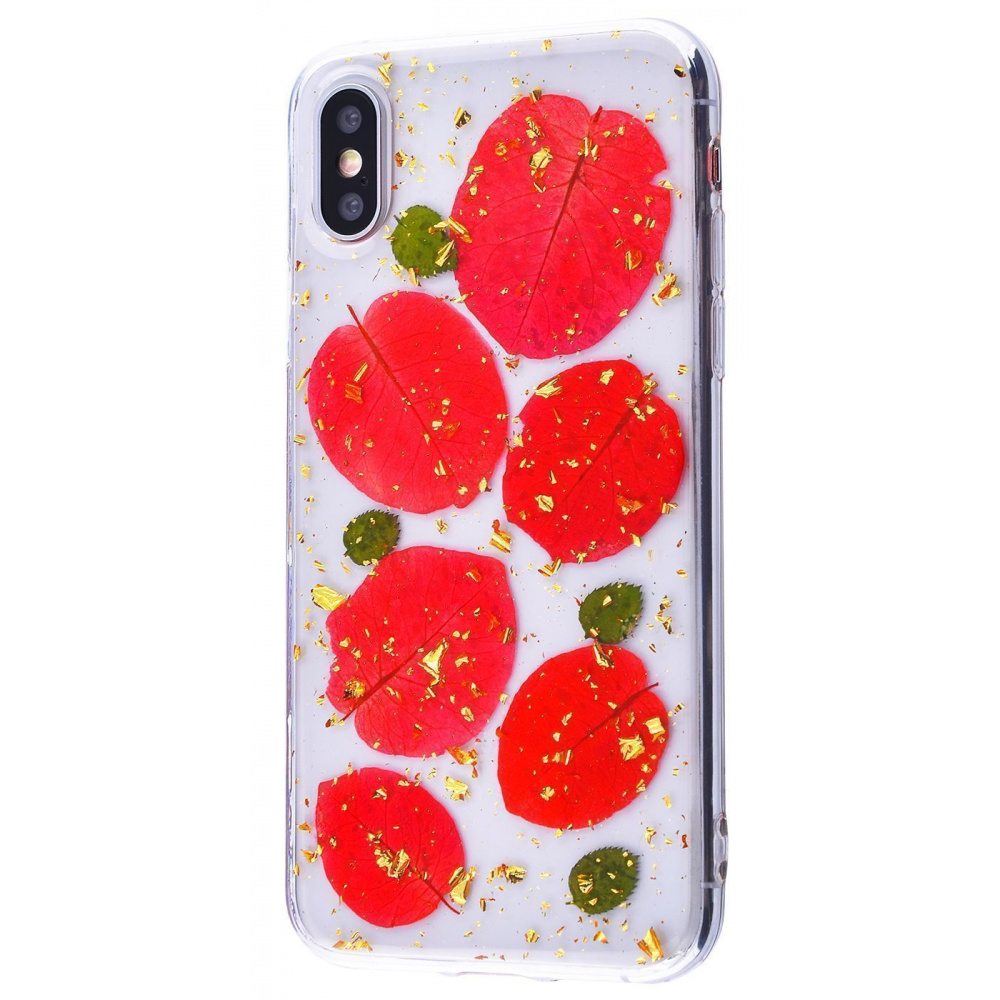 Nature flowers silicone case (TPU) iPhone X/Xs - фото 13
