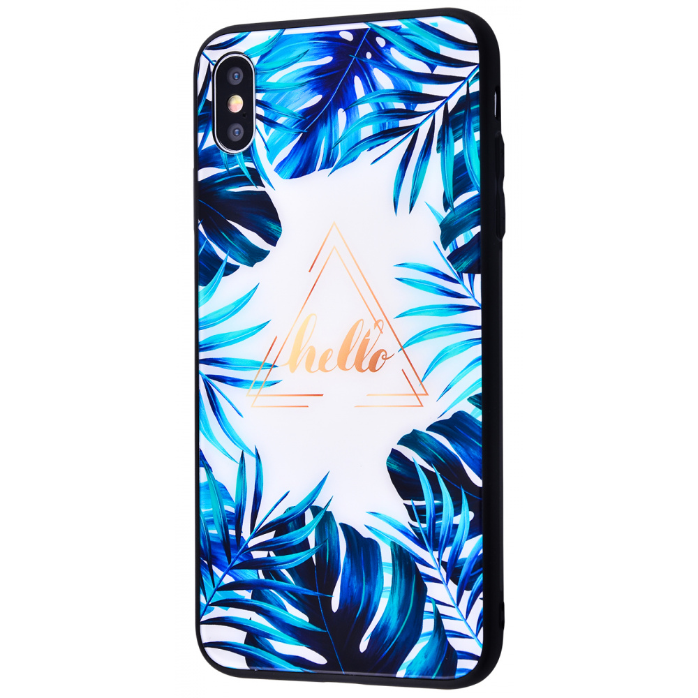 Tropical High quality Case (Tempering glass+TPU) iPhone X/Xs - фото 2