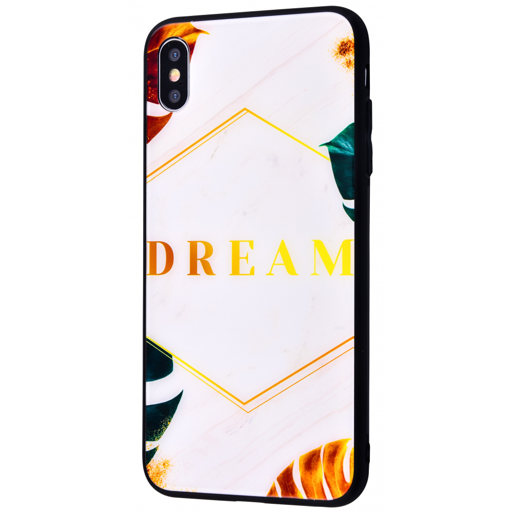 Tropical High quality Case (Tempering glass+TPU) iPhone X/Xs - фото 1