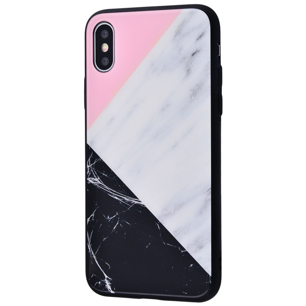 Marble High quality Case (Tempering glass+TPU) iPhone Xs Max - фото 9