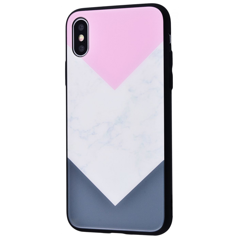 Marble High quality Case (Tempering glass+TPU) iPhone Xs Max - фото 8