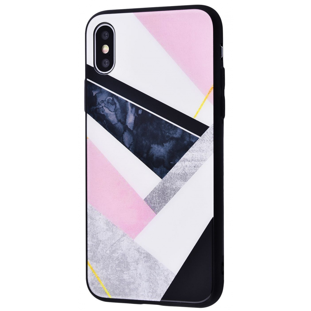 Marble High quality Case (Tempering glass+TPU) iPhone Xs Max - фото 7