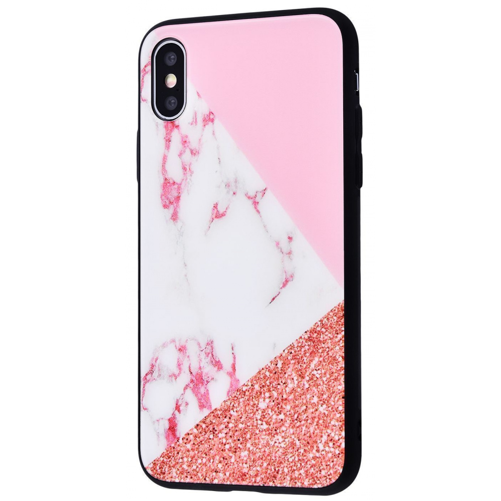Marble High quality Case (Tempering glass+TPU) iPhone Xs Max - фото 6
