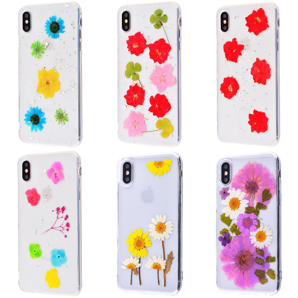 Nature flowers silicone case (TPU) iPhone X/Xs