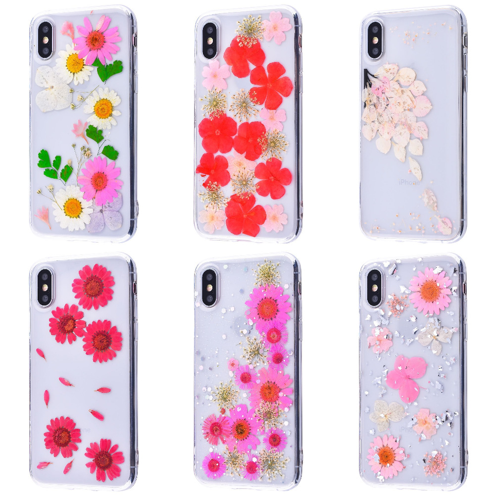 Nature flowers silicone case (TPU) iPhone X/Xs - фото 1