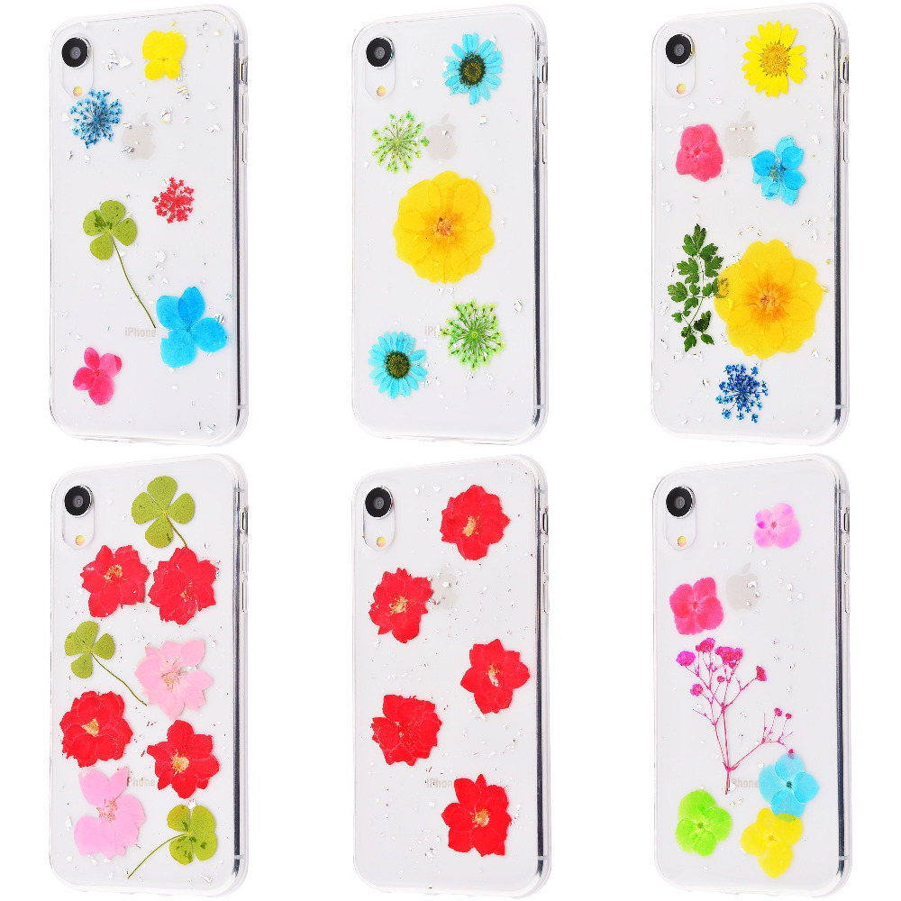 Nature flowers silicone case (TPU) iPhone Xr
