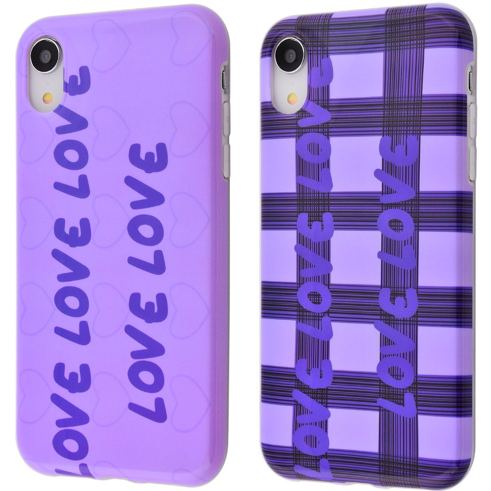 Violet glossy case (TPU) iPhone Xr