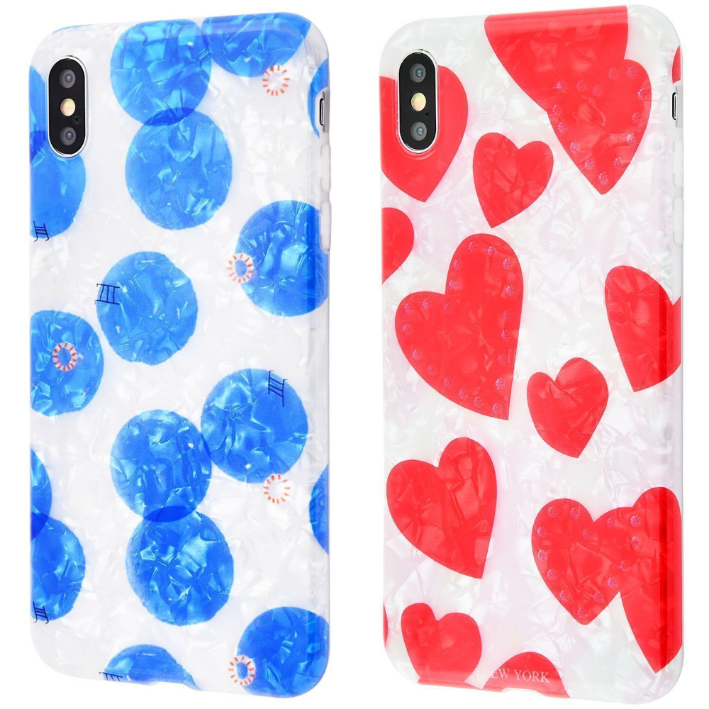 Blood of jelly Hearts and gold jelly series iPhone Xs Max