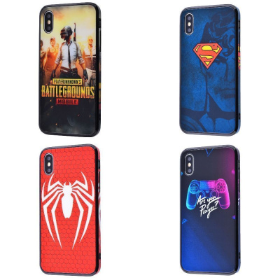 Купить HQ Glass Pictures case 360 (Tempering glass+TPU) iPhone X/Xs 21589 - Ncase