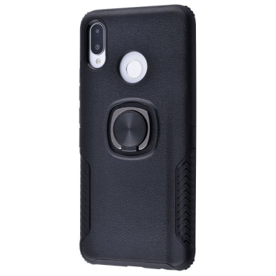 Купить Leather Design Case With Ring (PC+TPU) Huawei P Smart+/Nova 3i 23057 - Ncase