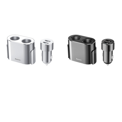 Купить Автомобильное ЗУ Baseus High Efficiency Dual Cigarette Lighter 2USB 24069 - Ncase