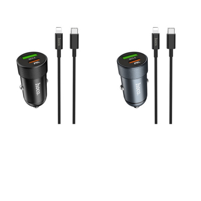 Купить Автомобильное ЗУ Hoco Z32B Speed UP PD+QC3.0 27W (Type-C To Lightning 18W Cable) 27914 - Ncase