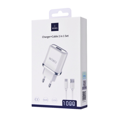 СЗУ Hoco C37A Charger + Cable (Lightning) 2.4A 1USB за $9.35, Код товара - 28332 - Ncase