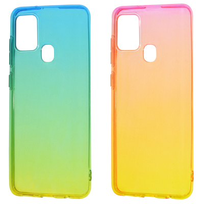Купить Силикон 0.5 mm Gradient Design Samsung Galaxy A21s 28703 - Ncase