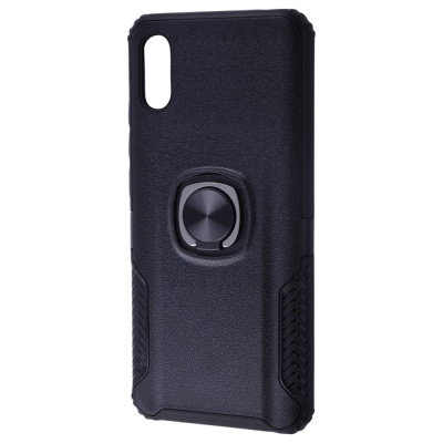 Купить Leather Design Case With Ring (PC+TPU) Xiaomi Redmi 9A 29487 - Ncase