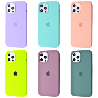 Купить Silicone Case Full Cover iPhone 12 Pro Max 30268 - Ncase