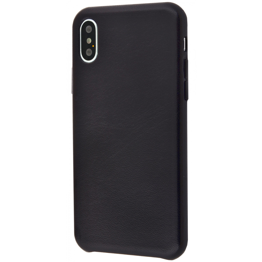 Natural Leather Smooth case iPhone Xs Max - фото 1