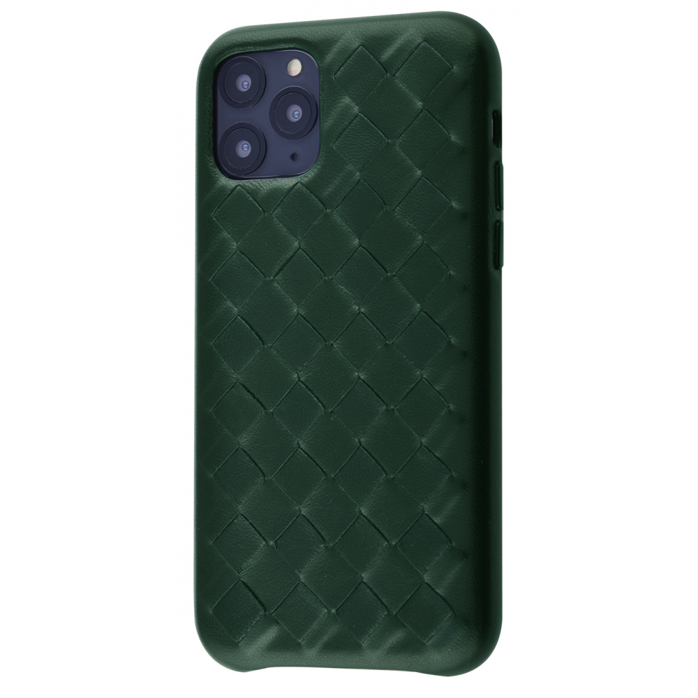 Natural Leather Weaving Case iPhone 11