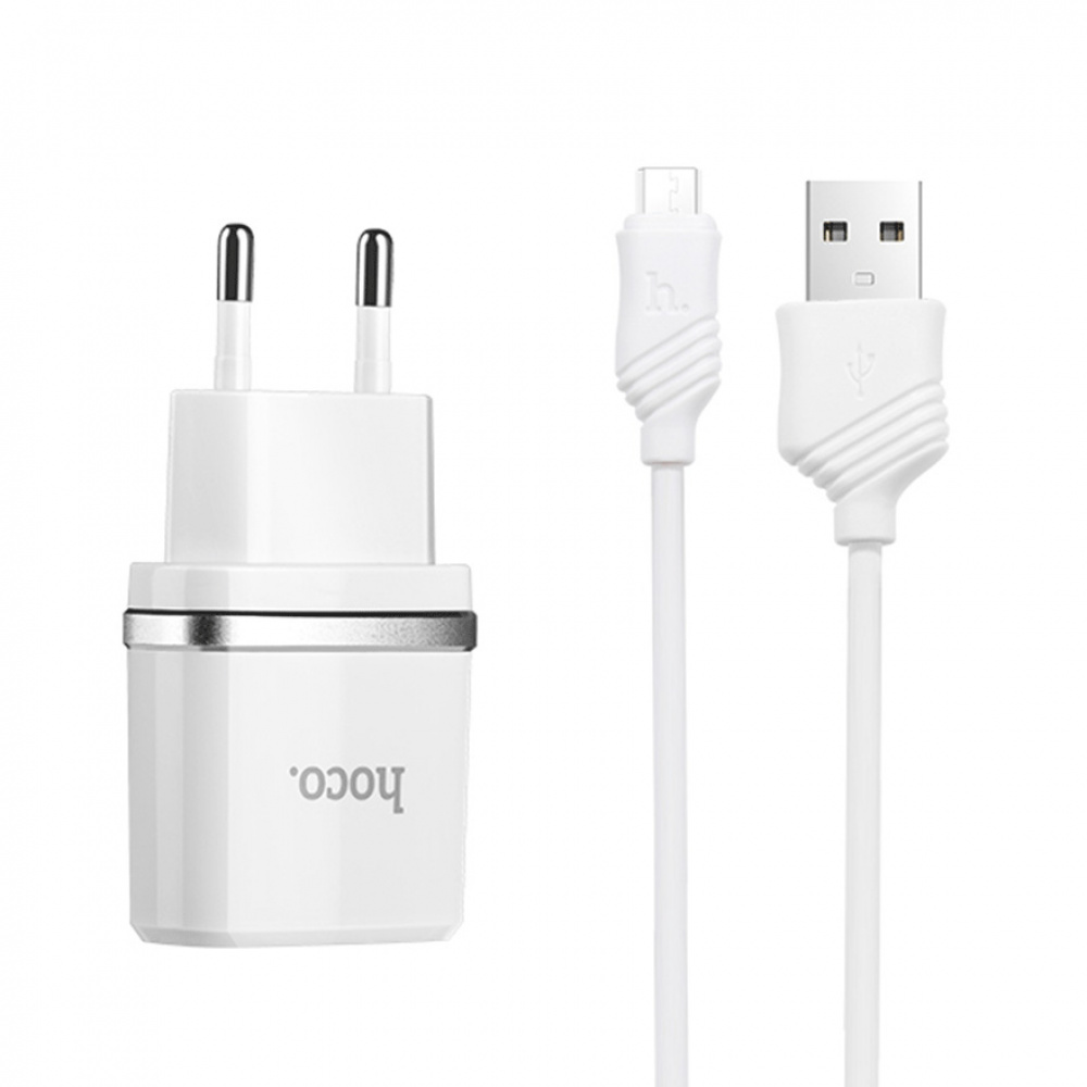 СЗУ Hoco C11 Charger + Cable (Micro) 1.0A 1USB