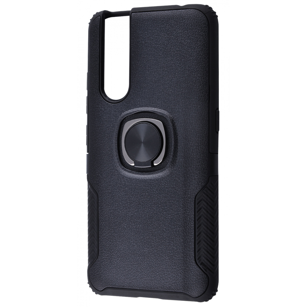 Leather Design Case With Ring (PC+TPU) VIVO V15 Pro