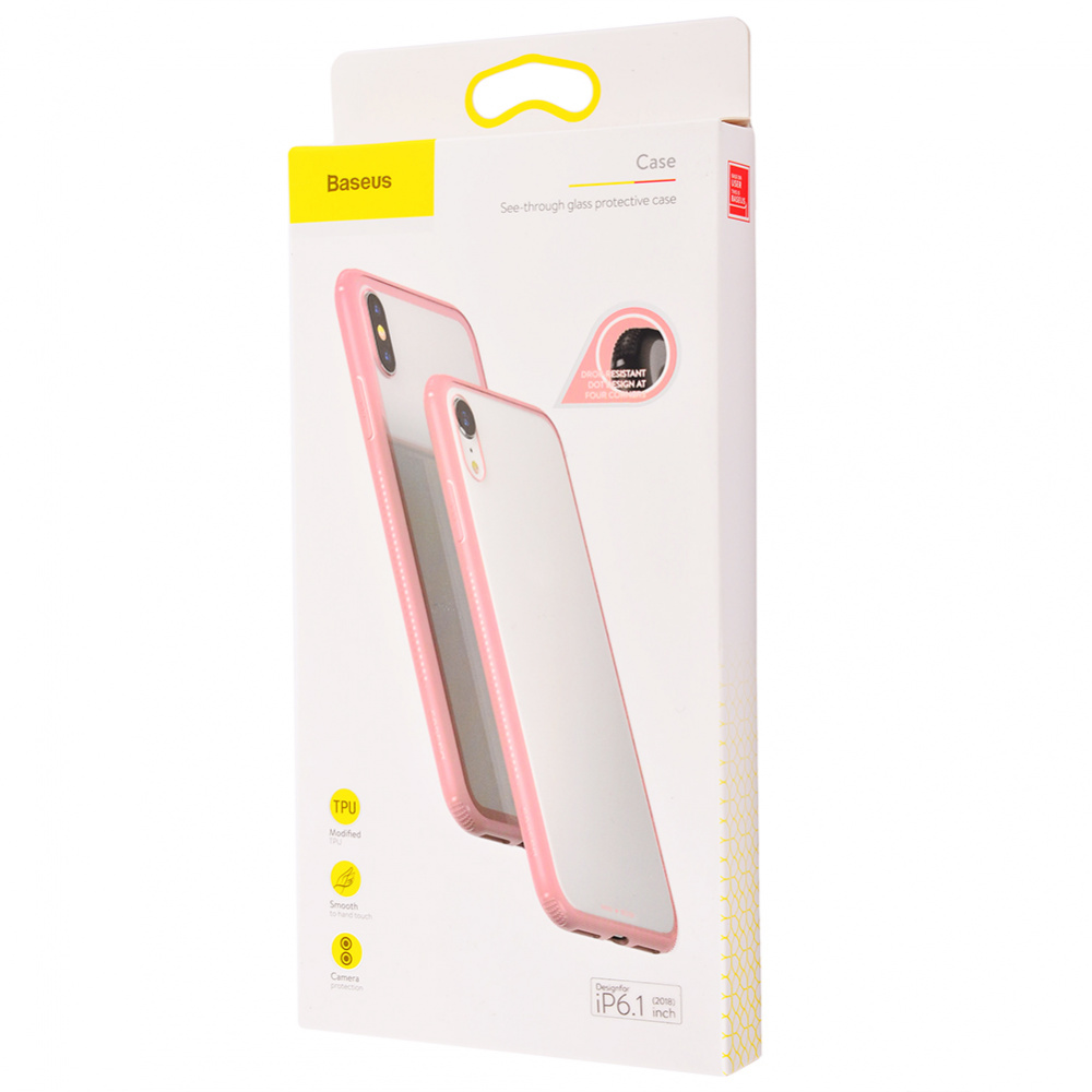 Baseus See-Through Glass Protective Case (TPU) iPhone Xr - фото 1